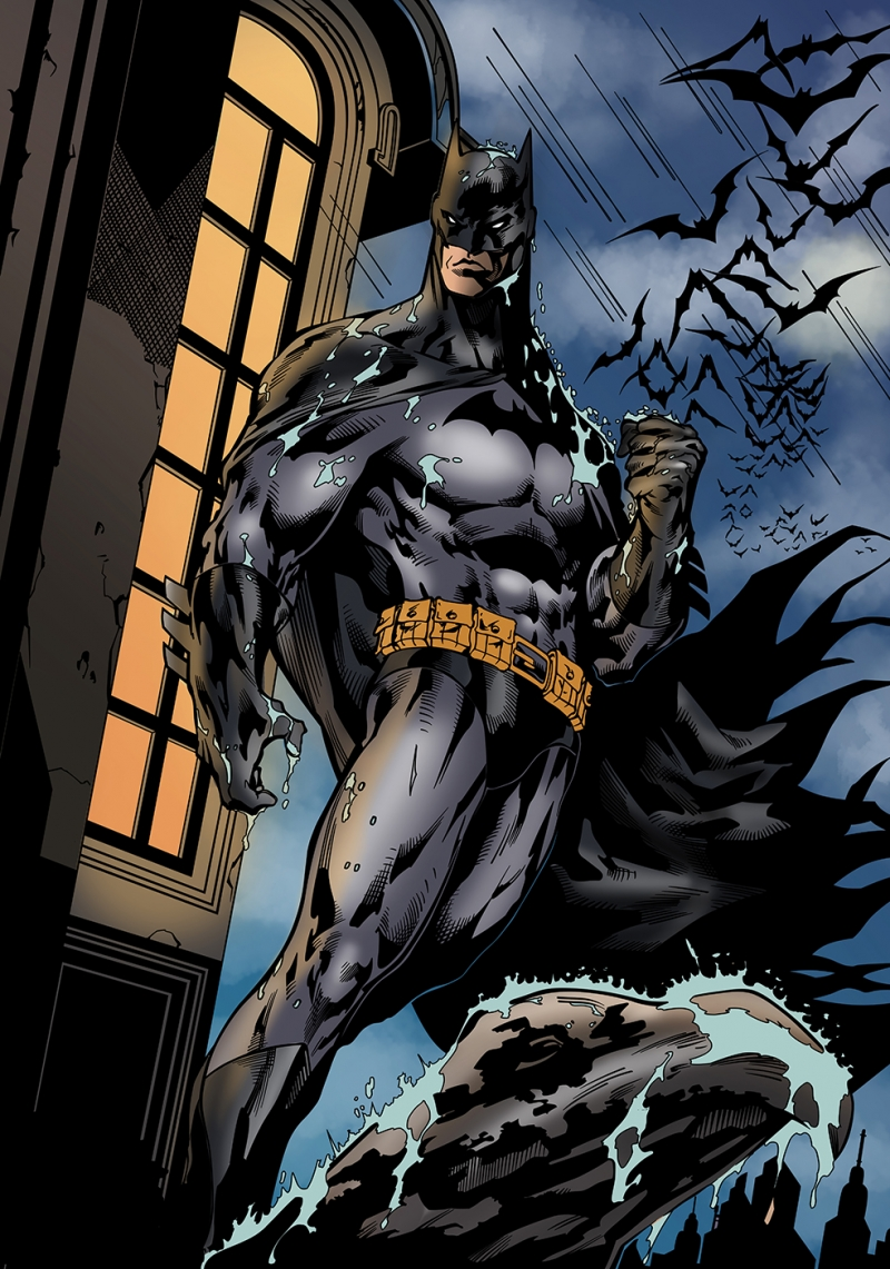 Batman Çizgi Roman Çizim Süper Kahramanlar Kanvas Tablo