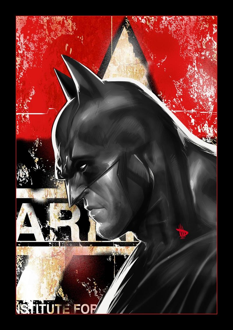 Batman illustrasyon Süper Kahramanlar Kanvas Tablo
