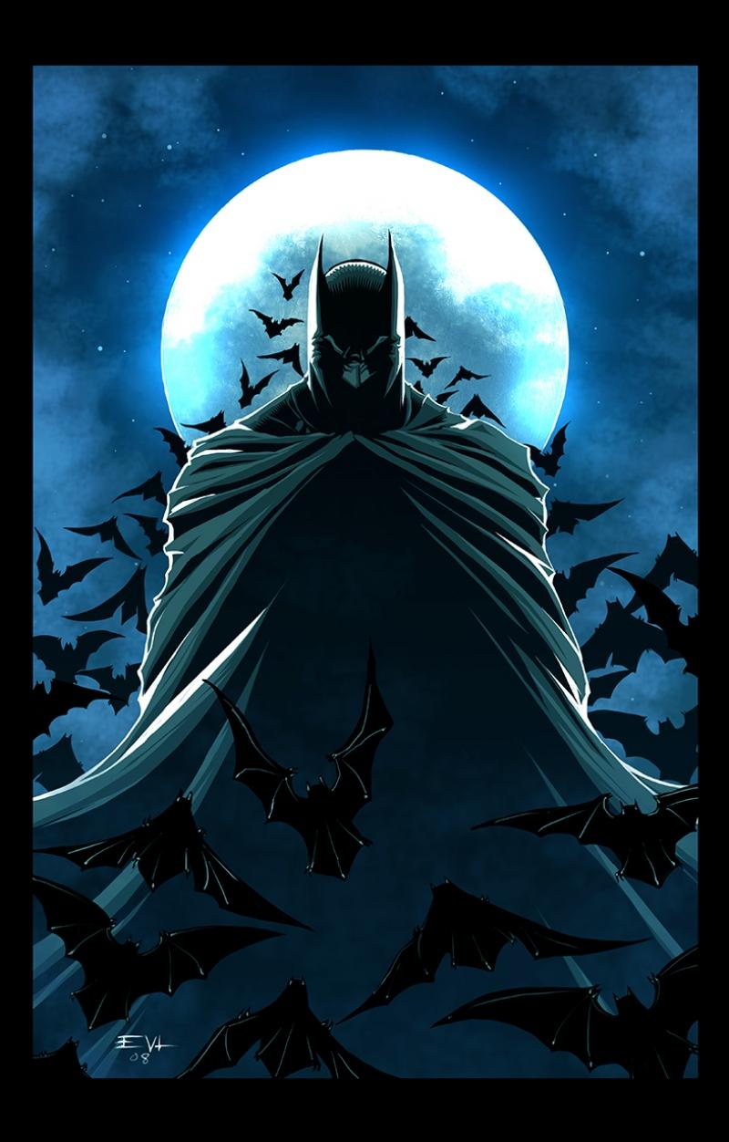 Batman Kara Şövalye-3 Süper Kahramanlar Kanvas Tablo