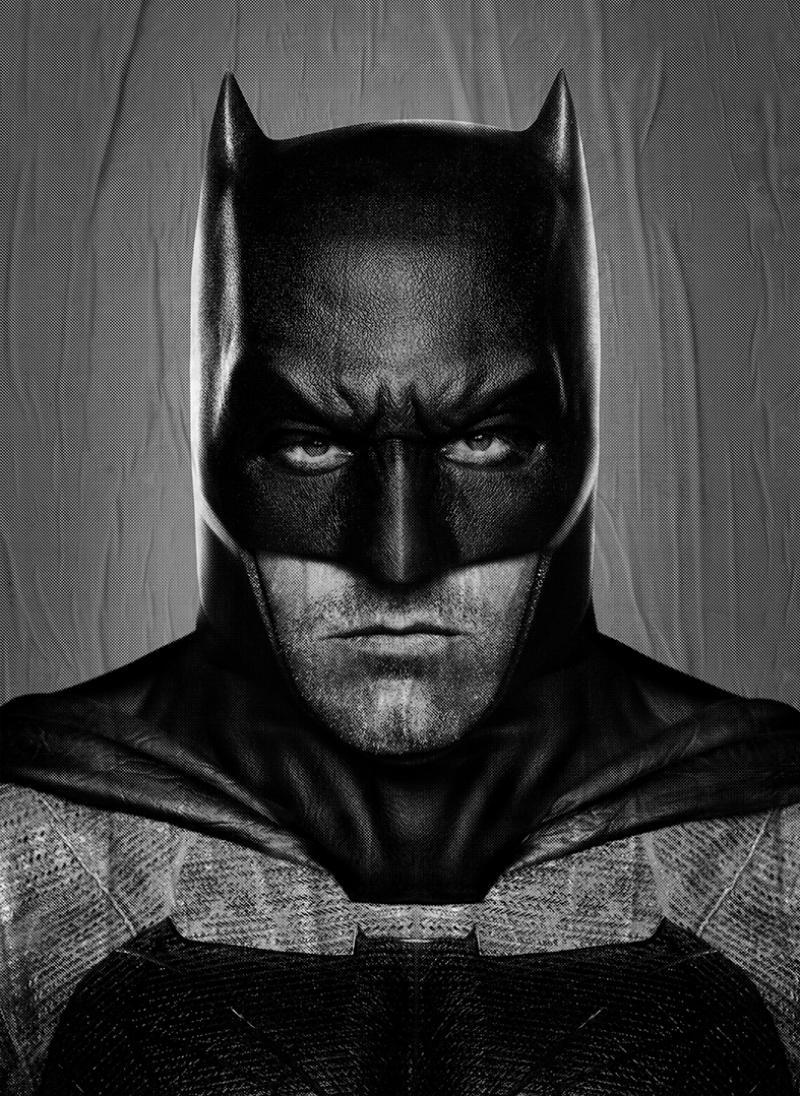 Batman Kara Şövalye Siyah Beyaz Süper Kahramanlar Kanvas Tablo