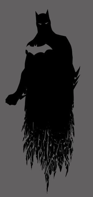 Batman Kara Şövalye Siyah Çizim Süper Kahramanlar Kanvas Tablo