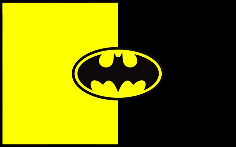Batman Klasik Logo 2 Süper Kahramanlar Kanvas Tablo