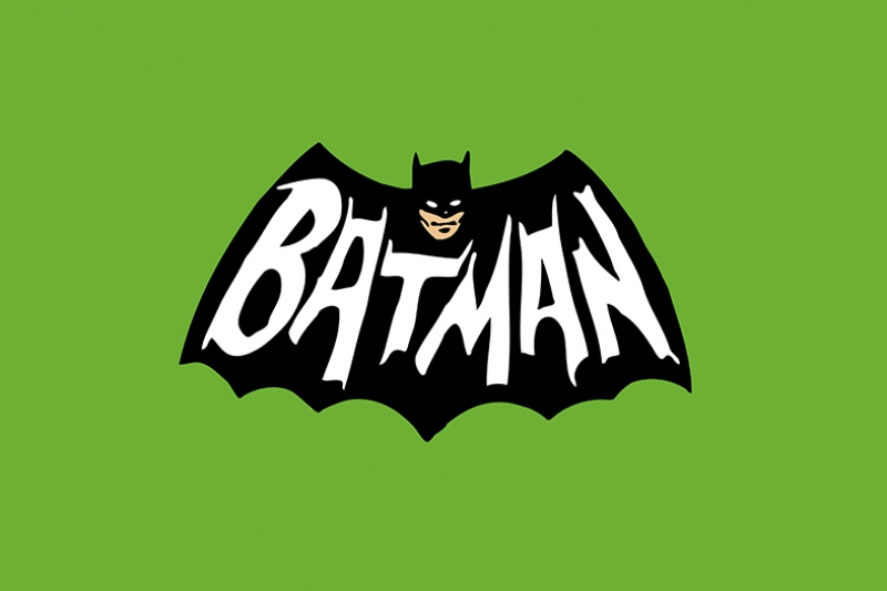 Batman Retro Logo Süper Kahramanlar Kanvas Tablo