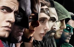 Batman Süperman Justice League Süper Kahramanlar Kanvas Tablo