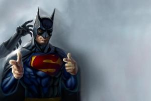 Batman Süperman Popüler Kültür Kanvas Tablo