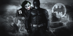 Batman ve Joker-2 Film Afişi Kanvas Tablo