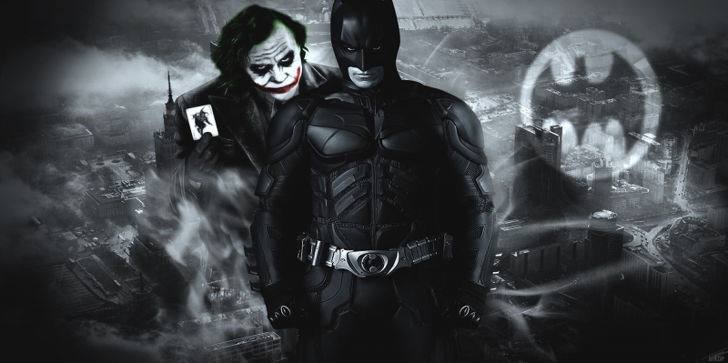 Batman ve Joker-2 Film Afişi Kanvas Tablo