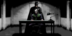 Batman ve Joker-4 Film Afişi Kanvas Tablo
