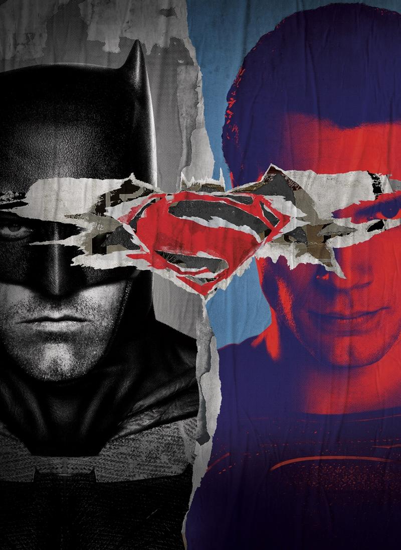 Batman ve Süperman Alternatif Poster Süper Kahramanlar Kanvas Tablo