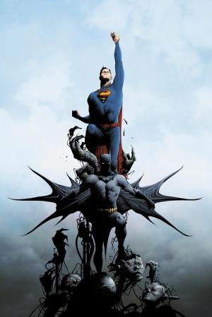 Batman ve Süperman Çizgi Roman 2 Süper Kahramanlar Kanvas Tablo