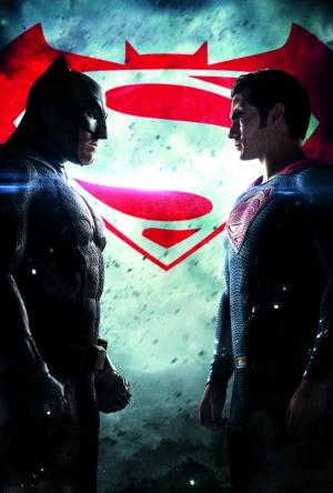 Batman ve Süperman Film Afiş Süper Kahramanlar Kanvas Tablo