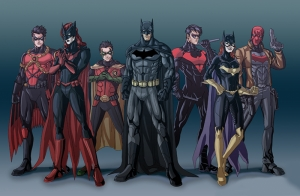 Batman ve Takım Arkadaşları Süper Kahramanlar Kanvas Tablo