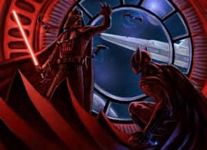 Batman vs Vader Süper Kahramanlar Kanvas Tablo