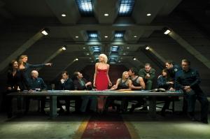 Battlestar Galactica Poster Kanvas Tablo