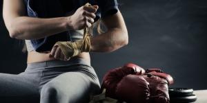 Bayan Boksör Dövüş Hazırlığı Boks Spor Kanvas Tablo