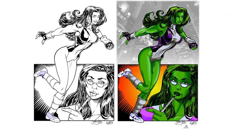Bayan Hulk Süper Kahramanlar Kanvas Tablo