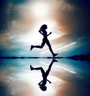 Bayan Koşucu 1 Sporcu Fotoğraf Kanvas Tablo