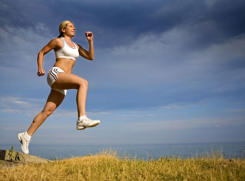 Bayan Koşucu 2 Sporcu Fotoğraf Kanvas Tablo