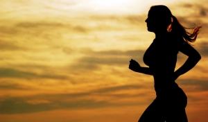 Bayan Koşucu 4 Sporcu Fotoğraf Kanvas Tablo