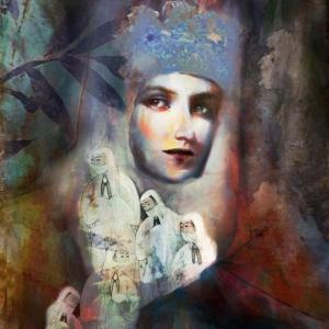 Bayan Portre 10, Suhair Sibai Yağlı Boya Sanat Kanvas Tablo