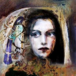 Bayan Portre 11, Suhair Sibai Yağlı Boya Sanat Kanvas Tablo
