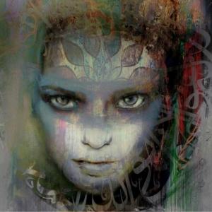 Bayan Portre 13, Suhair Sibai Yağlı Boya Sanat Kanvas Tablo