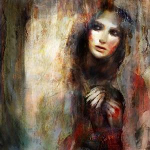 Bayan Portre 14, Suhair Sibai Yağlı Boya Sanat Kanvas Tablo