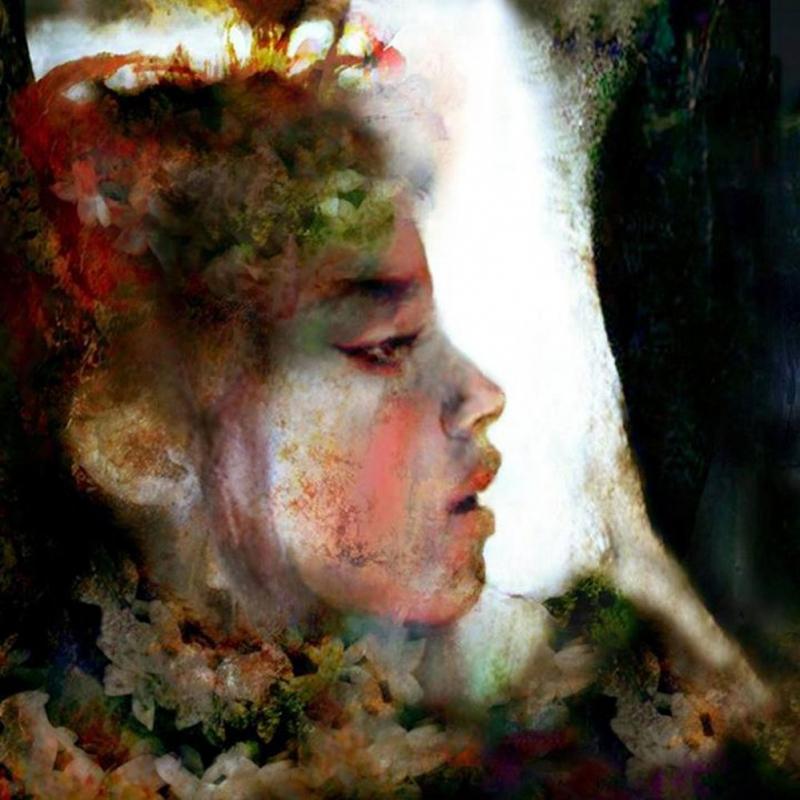 Bayan Portre 16, Suhair Sibai Yağlı Boya Sanat Kanvas Tablo