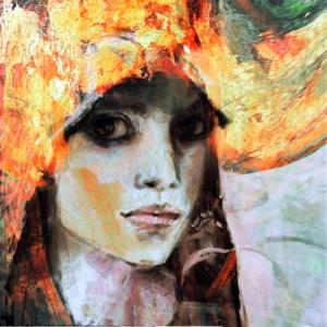 Bayan Portre 17, Suhair Sibai Yağlı Boya Sanat Kanvas Tablo