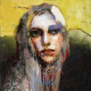 Bayan Portre 18, Suhair Sibai Yağlı Boya Sanat Kanvas Tablo