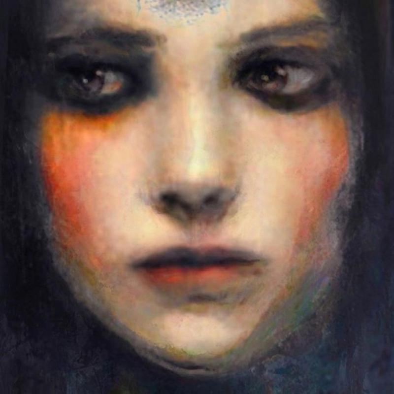 Bayan Portre 19, Suhair Sibai Yağlı Boya Sanat Kanvas Tablo