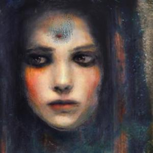 Bayan Portre 2, İç Mekan Dekoratif Yağlı Boya Sanat Kanvas Tablo