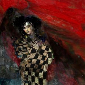 Bayan Portre 20, Suhair Sibai Yağlı Boya Sanat Kanvas Tablo