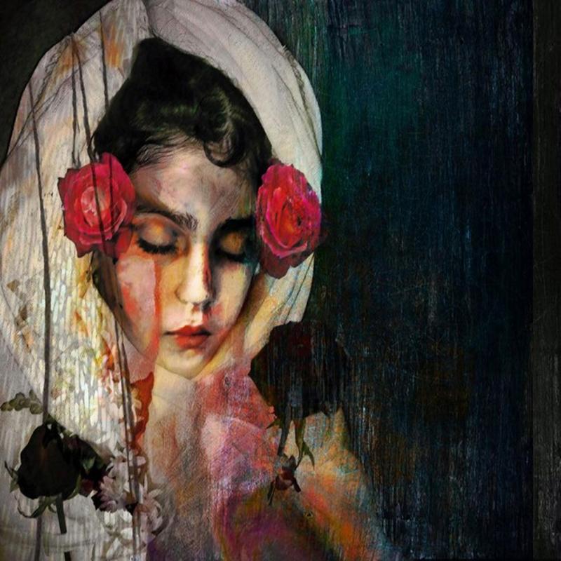 Bayan Portre 22, Suhair Sibai Yağlı Boya Sanat Kanvas Tablo