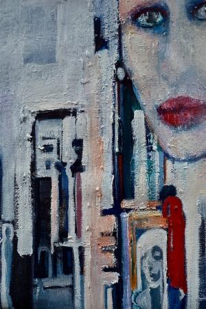 Bayan Portre 29 Yağlı Boya Sanat Kanvas Tablo