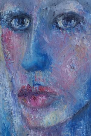 Bayan Portre 30 Yağlı Boya Sanat Kanvas Tablo