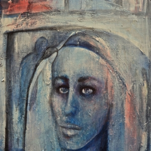 Bayan Portre 31, Suhair Sibai Yağlı Boya Sanat Kanvas Tablo