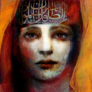 Bayan Portre 4, Suhair Sibai Yağlı Boya Sanat Kanvas Tablo