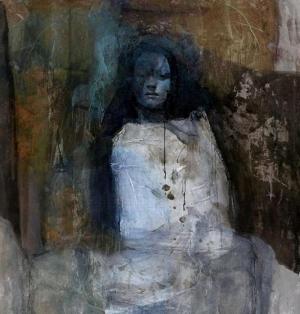 Bayan Portre 5, Suhair Sibai Yağlı Boya Sanat Kanvas Tablo
