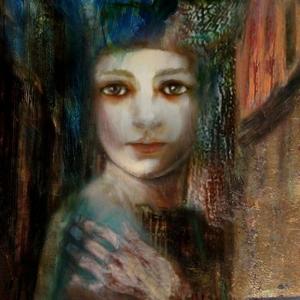 Bayan Portre 6, Suhair Sibai Yağlı Boya Sanat Kanvas Tablo