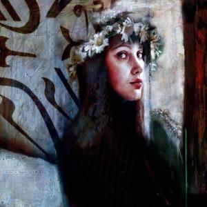 Bayan Portre 8, Suhair Sibai Yağlı Boya Sanat Kanvas Tablo