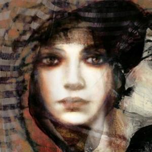Bayan Portre 9, Suhair Sibai Yağlı Boya Sanat Kanvas Tablo