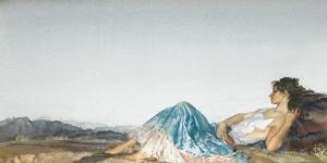Bayan Portre, Doğa Manzarası İç Mekan Kanvas Tablo