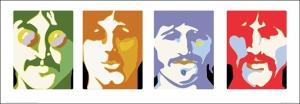 Beatles İlüstrasyon Ünlü Yüzler Kanvas Tablo