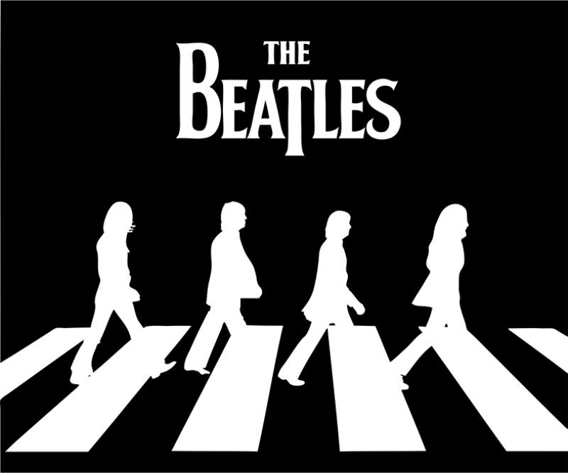 Beatles Siyah Beyaz Popüler Kültür Kanvas Tablo
