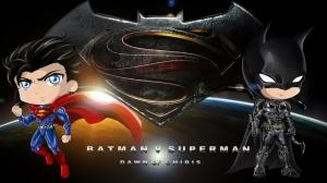 Bebek Batman ve Süpermen Bebek & Çocuk Dünyası Kanvas Tablo