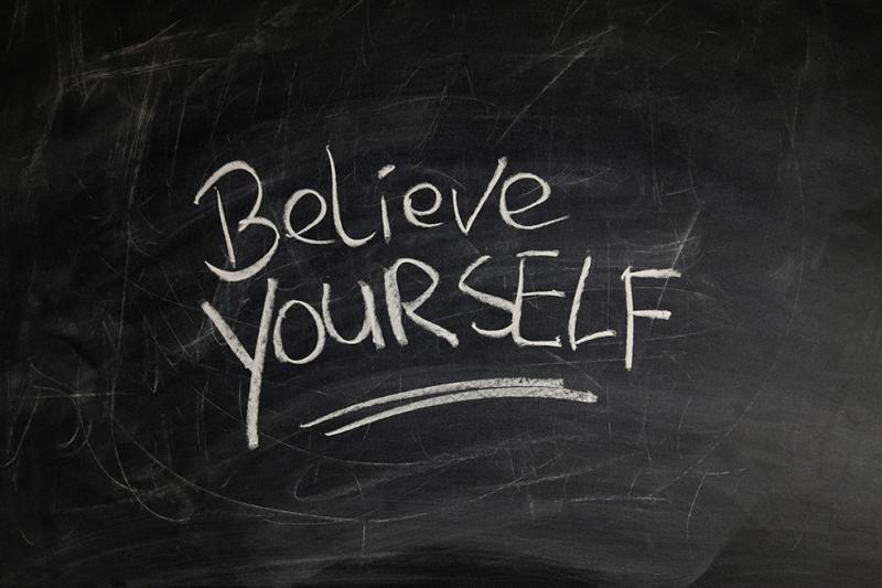 Believe Youself Motivasyon Fotoğraf Kanvas Tablo
