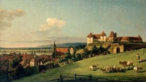 Bellotto Bernando View Of Pirna From The Sonnenstein Castle Yağlı Boya Sanat Kanvas Tablo