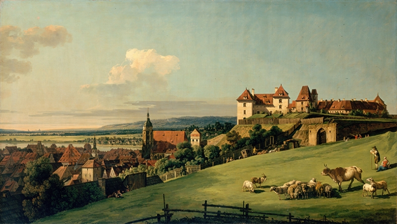 Bellotto Bernando View Of Pirna From The Sonnenstein Castle Yağlı Boya Sanat Kanvas Tablo