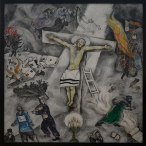 Beyaz Çarmığa Gerilme Marc Chagall White Crucifixion Klasik Sanat Kanvas Tablo